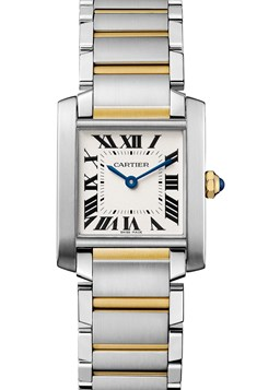 Cartier Tank Francaise 18 Carat Yellow Gold And Stainless Steel 30Mm Case